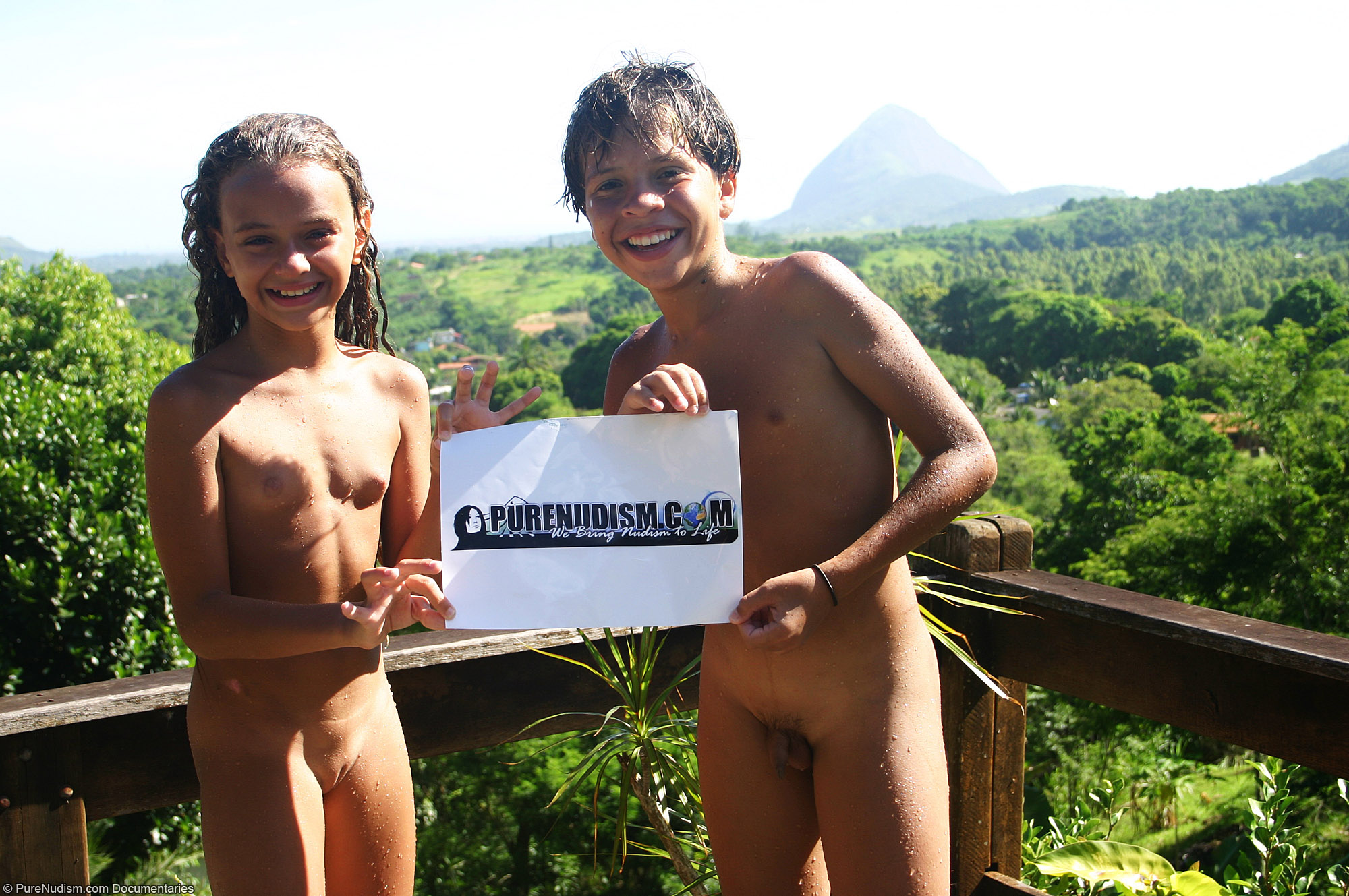purenudism.com COM - Nudist Friends Promoting PureNudism.com Picture